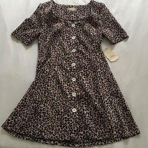 Altar'd State Cheetah Print Knit Dress